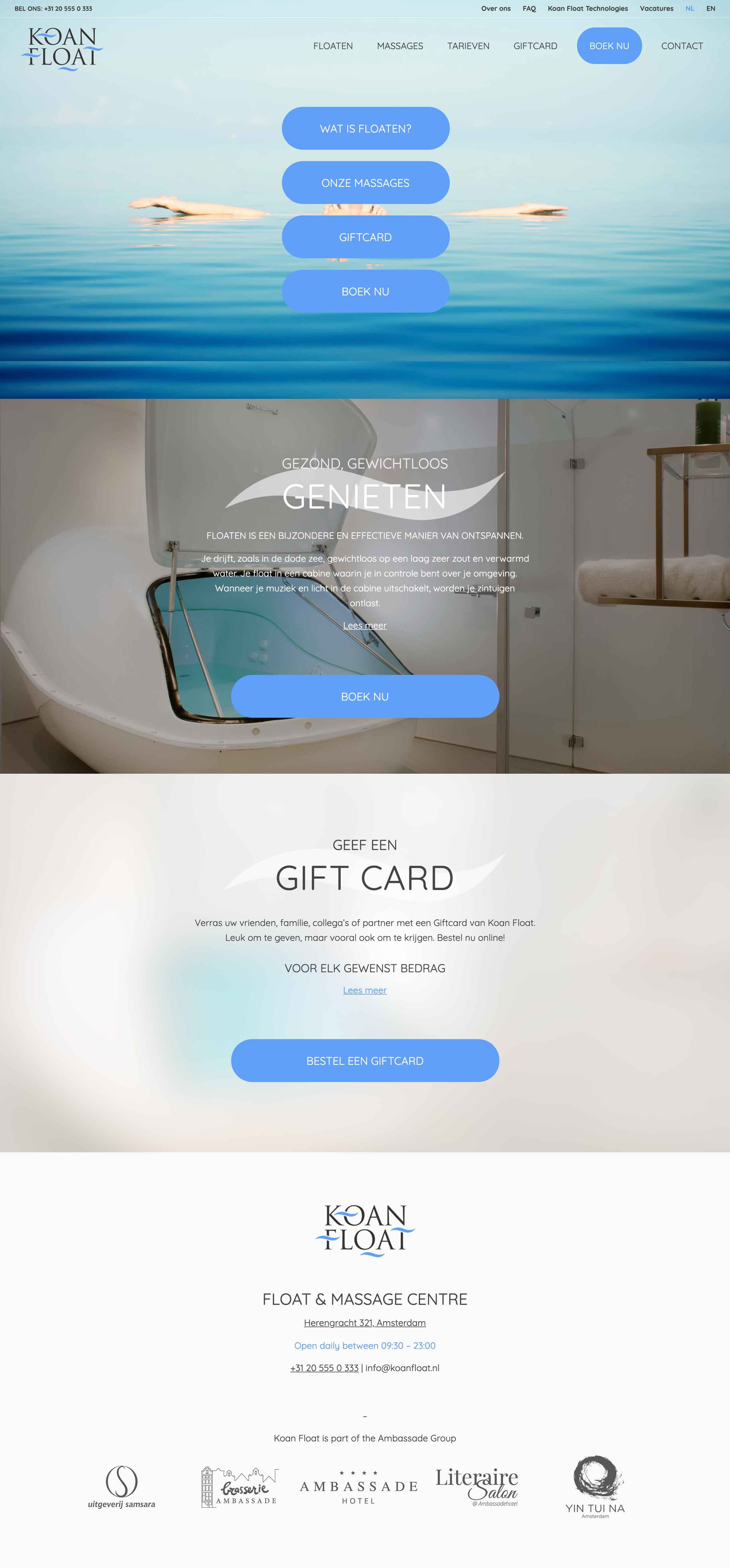 Koan Float website mockup by Gent Iyus